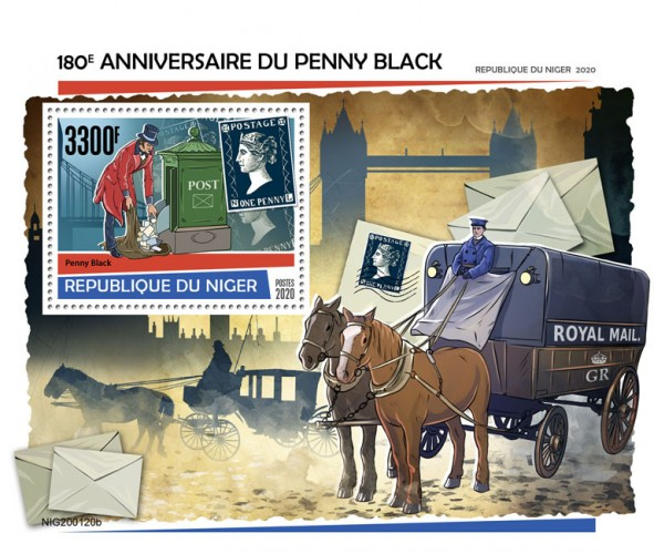 [The 180th Anniversary of Penny Black, type ]