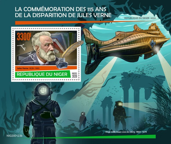 [The 115th Anniversary of the Death of Jules Verne, 1828-1905, type ]