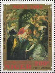 [Airmail - Christmas - Paintings by Rubens, Typ ABQ]