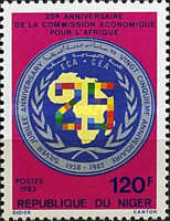 [The 25th Anniversary of Economic Commission for Africa, type ACB]