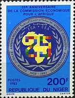 [The 25th Anniversary of Economic Commission for Africa, type ACB1]