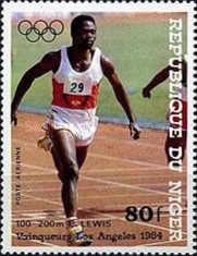 [Airmail - Olympic Games - Los Angeles, USA - Medal Winners, Typ AEO]