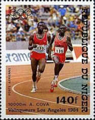 [Airmail - Olympic Games - Los Angeles, USA - Medal Winners, Typ AEQ]