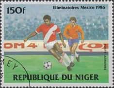 [Airmail - Football World Cup - Mexico 1986 - Preliminary Rounds, Typ AEV]