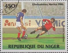 [Airmail - Football World Cup - Mexico 1986 - Preliminary Rounds, Typ AEX]