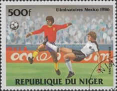 [Airmail - Football World Cup - Mexico 1986 - Preliminary Rounds, Typ AEY]