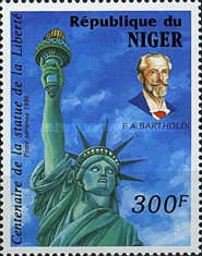 [Airmail - The 100th Anniversary of Statue of Liberty, New York, Typ AHV]