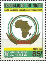 [The 25th Anniversary of Organization of African Unity, Typ AJW]