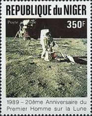 [Airmail - The 20th Anniversary of First Manned Landing on Moon, Typ AKL]