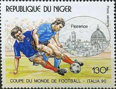 [Airmail - Football World Cup - Italy, Typ ALE]