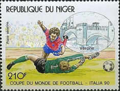 [Airmail - Football World Cup - Italy, Typ ALF]