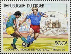 [Airmail - Football World Cup - Italy, Typ ALG]