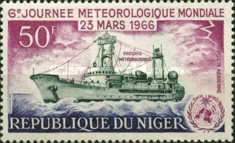 [Airmail - World Meteorological Day, type CZ]