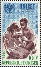 [Airmail - The 21st Anniversary of UNICEF, Typ FG]