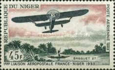 [Airmail - The 1st France-Niger Airmail Service, type FM]