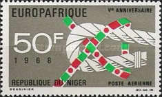 [Airmail - The 5th European-African Economic Organization EUROPAFRIQUE, type FS]