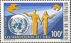 [Airmail - The 25th Anniversary of the United Nations, Typ IE]
