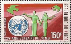 [Airmail - The 25th Anniversary of the United Nations, Typ IE1]