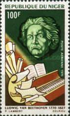 [Airmail - The 200th Anniversary of the Birth of Ludwig van Beethoven, 1770-1827, type IN]