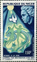 [Airmail - The 200th Anniversary of the Birth of Ludwig van Beethoven, 1770-1827, type IO]