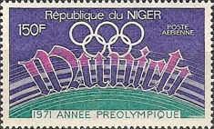 [Airmail - Publicity for 1972 Olympic Games, Munich, Typ IY]