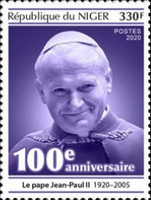 [The 100th Anniversary of the Birth of Pope John Paul II, 1920-2005, type JKB]