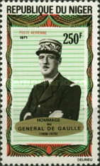 [Airmail - The 1st Anniversary of the Death of Charles de Gaulle, 1890-1970, Typ JW]