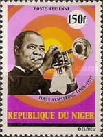 [Airmail - Louis Armstrong, American Jazz Musician, Commemoration, 1900-1971, Typ KC]