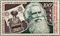 [Airmail - The 50th Anniversary of the Death of Alexander Graham Bell, 1847-1922, Typ LE]