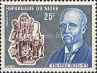 [The 60th Anniversary of the Death of Rudolf Diesel, Engineer, 1858-1913, Typ NC]
