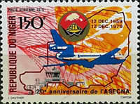 [Airmail - The 20th Anniversary of ASECNA, African Air Safety Organization, Typ XE]