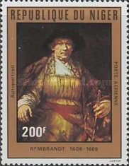 [Airmail - The 375th Anniversary of the Birth of Rembrandt, 1606-1669, type YR]