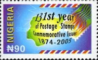 [The 131st Anniversary of Commemorative Postage Stamps, type AAI]