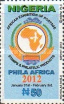 [Stamp Exhibition PHILA AFRICA 2012, type ACW]