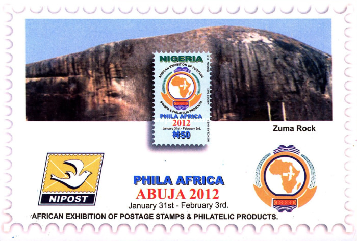[Stamp Exhibition PHILA AFRICA 2012, type ACW1]