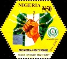 [The 100th Anniversary (2014) of Nigeria, type AEA]
