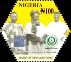 [The 100th Anniversary (2014) of Nigeria, type AEB]