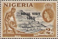 [Royal Visit - Issue of 1953 Overprinted