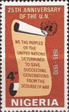 [The 25th Anniversary of United Nations, type FZ]