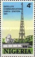 [Opening of Nigerian Earth Satellite Station, type GT]