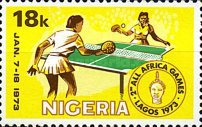 [The 2nd All-African Games, Lagos, type HJ]