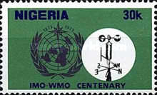 [The 100th Anniversary of World Meteorological Organization, type IG1]