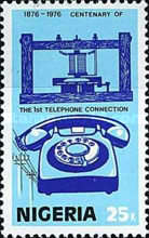 [The 100th Anniversary of the Telephone, type JA]