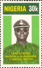 [The 1st Anniversary of the Death of General Muhammed (Head of State), type JL]