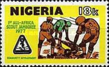 [The 1st All-African Scout Jamboree - Jos, Nigeria, type JN]