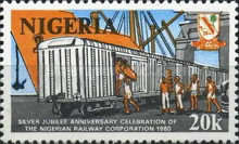 [The 25th Anniversary of Nigerian Railway Corporation, type LB]