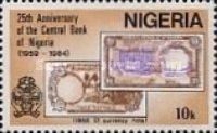 [The 25th Anniversary of Nigerian Central Bank, type NJ]