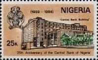 [The 25th Anniversary of Nigerian Central Bank, type NK]