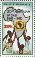 [The 25th Anniversary of Organization of African Unity, type QP]