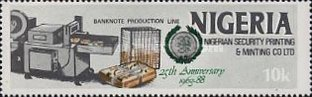 [The 25th Anniversary of Nigerian Security Printing and Minting Co. Ltd., type QX]